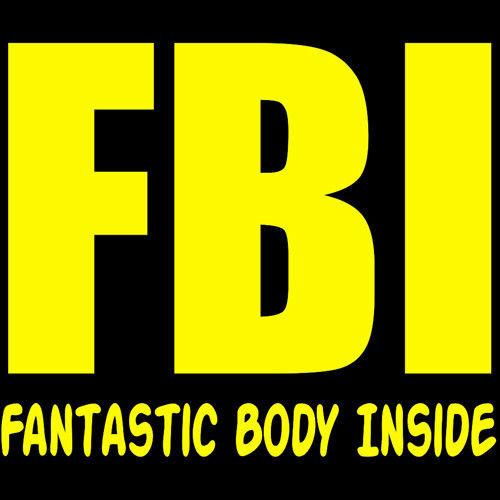 koszulka damska FBI-Fantastic Body Inside- CZARNA