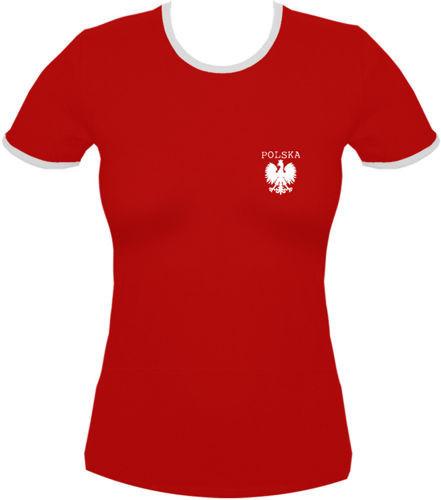 koszulka damska Kd008 Polska mały Orzeł Czerwony