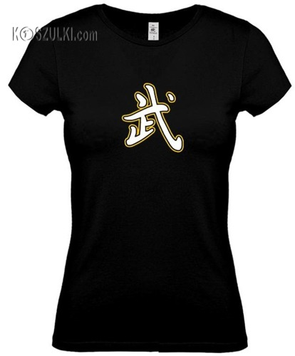koszulka damska Odwaga- CZARNA