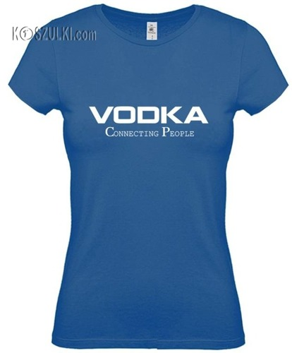 koszulka damska Vodka-NIEBIESKA