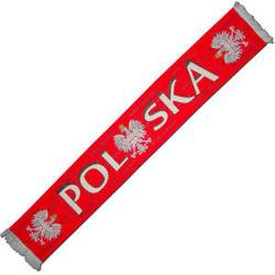 szalik Polska,kibica reprezentacji  tkany 3 Orły