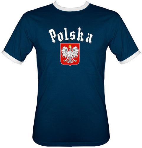 t-shirt 2K049  Polska Gotyk Granatowy