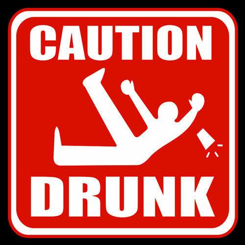 t-shirt Caution Drunk
