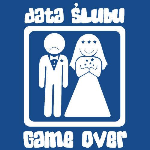 t-shirt Game Over Wieczór Kawalerski Data