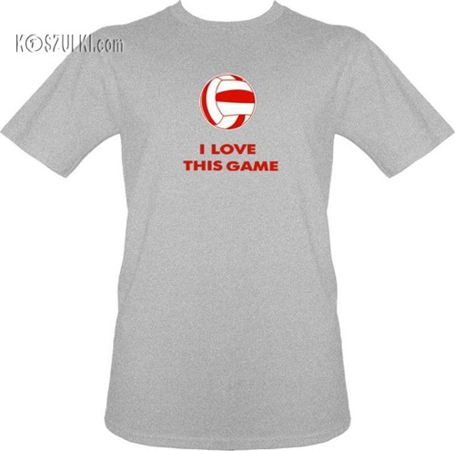 t-shirt I Love this Game-Volleyball