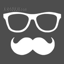 t-shirt Okulary + wąs