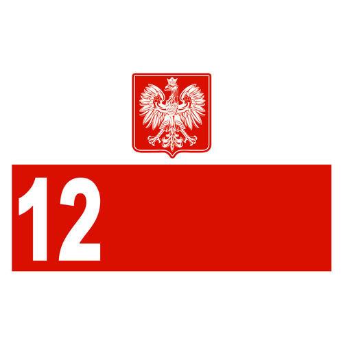 t-shirt T030 Polska 12 zawodnik BIALA + NAZWISKO