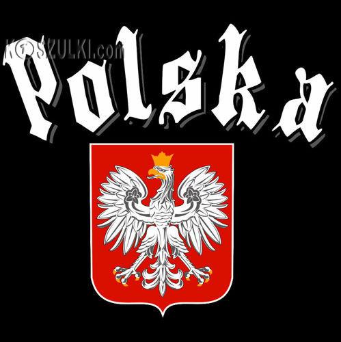 t-shirt T047 Polska Gotyk Czarny