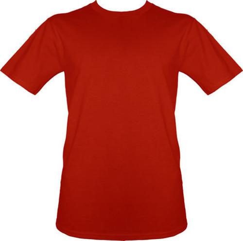 t-shirt bez nadruku Czerwony