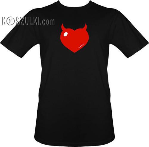 t-shirt serce Różki