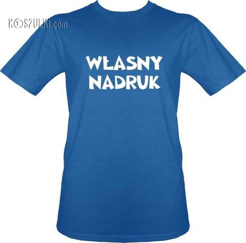 t-shirt z własnym nadrukiem- Niebieski