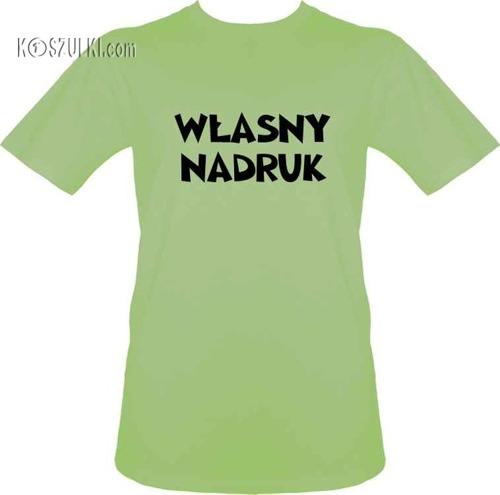 t-shirt z własnym nadrukiem- Limonka